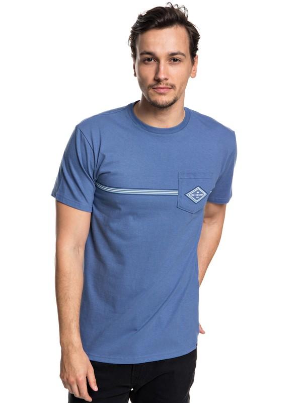 0 Hombres Camiseta Crosstown Azul AQYZT05560 Quiksilver