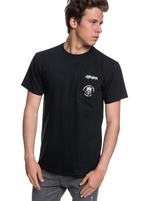 0 Hombres Camiseta con Bolsillo           Roppongi Nights Negro AQYZT05561 Quiksilver
