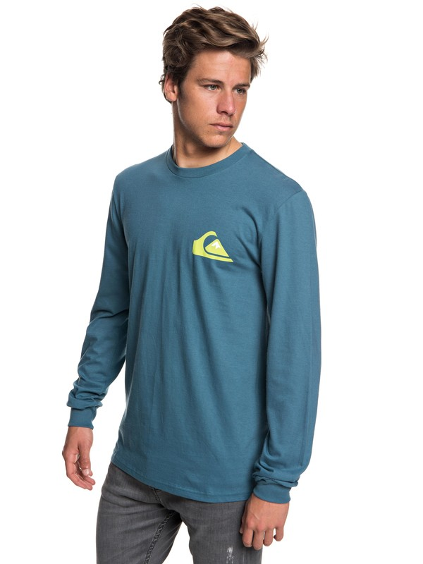 0 Men's Vice Versa Long Sleeve Tee Blue AQYZT05564 Quiksilver