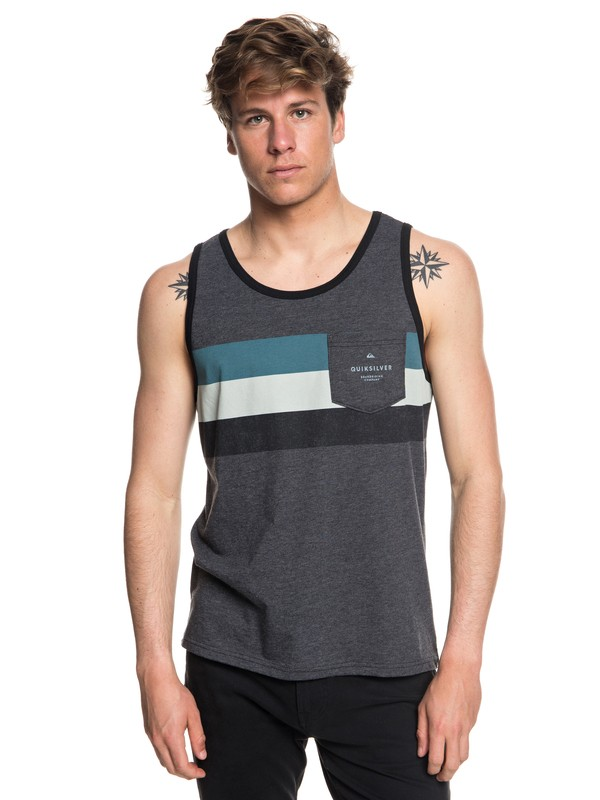 0 Men's Peaceful Progression Tank Black AQYZT05571 Quiksilver