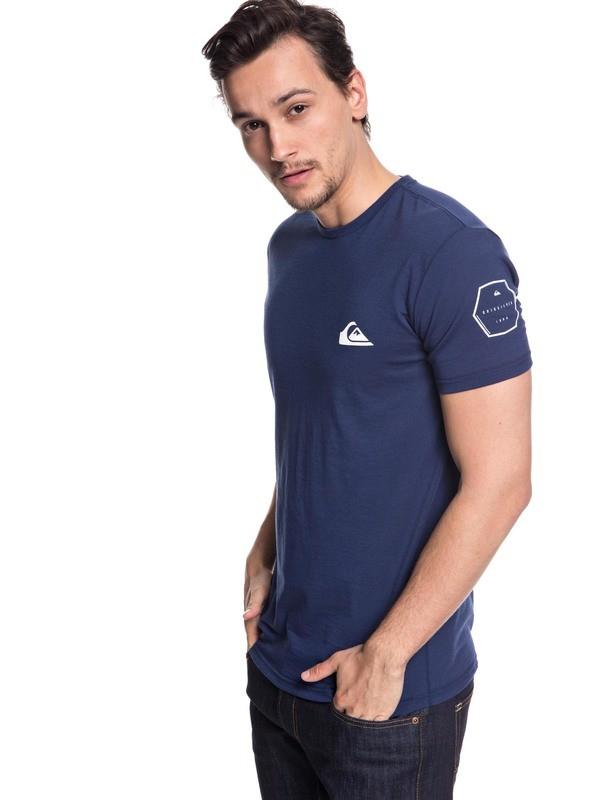 0 Hombres Camiseta Solid Left Azul AQYZT05576 Quiksilver