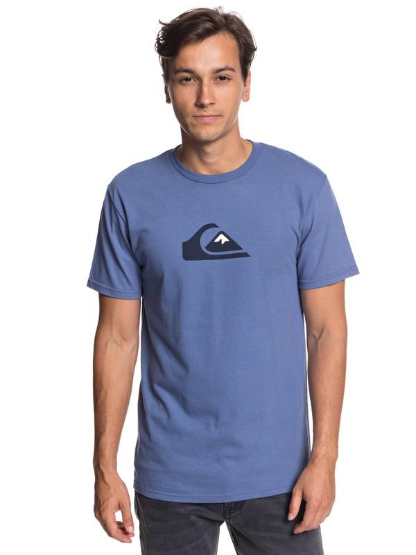 0 Comp Logo Tee Blue AQYZT05756 Quiksilver