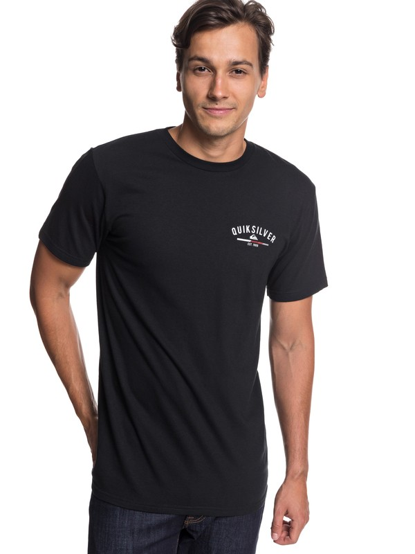 0 Simple Color Tee Black AQYZT05757 Quiksilver