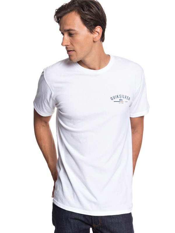 0 Simple Color Tee White AQYZT05757 Quiksilver