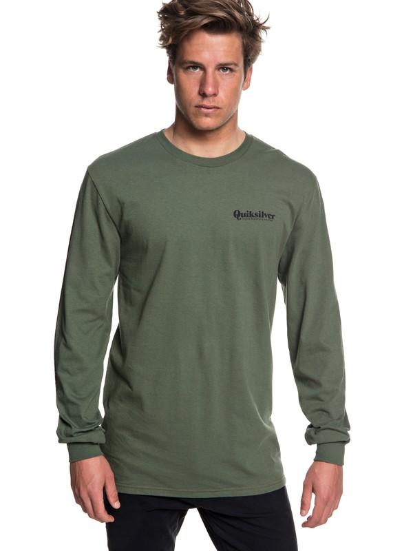 0 Fineline Long Sleeve Tee Brown AQYZT05780 Quiksilver