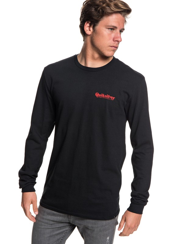 0 Fineline Long Sleeve Tee Black AQYZT05780 Quiksilver