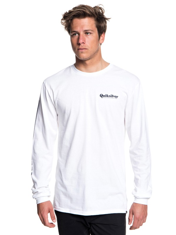 0 Fineline Long Sleeve Tee White AQYZT05780 Quiksilver