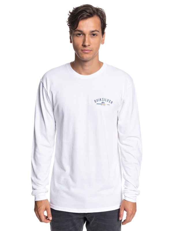 0 Simple Color Long Sleeve Tee White AQYZT05784 Quiksilver