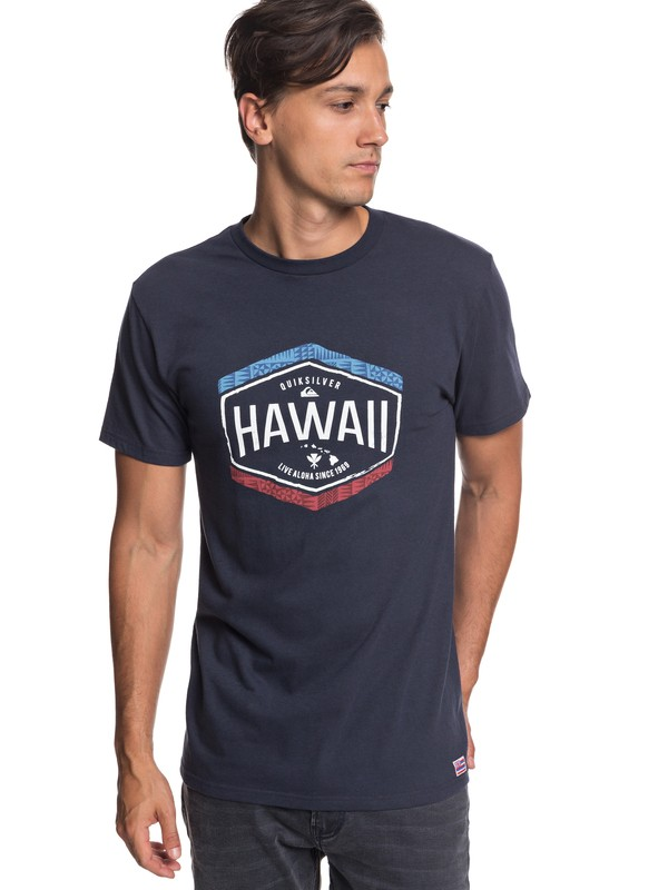 0 Hawaii Money Tee Blue AQYZT05799 Quiksilver