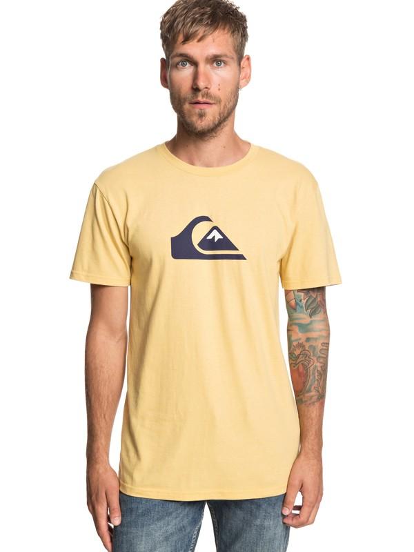 0 MW Logo Tee Yellow AQYZT05910 Quiksilver