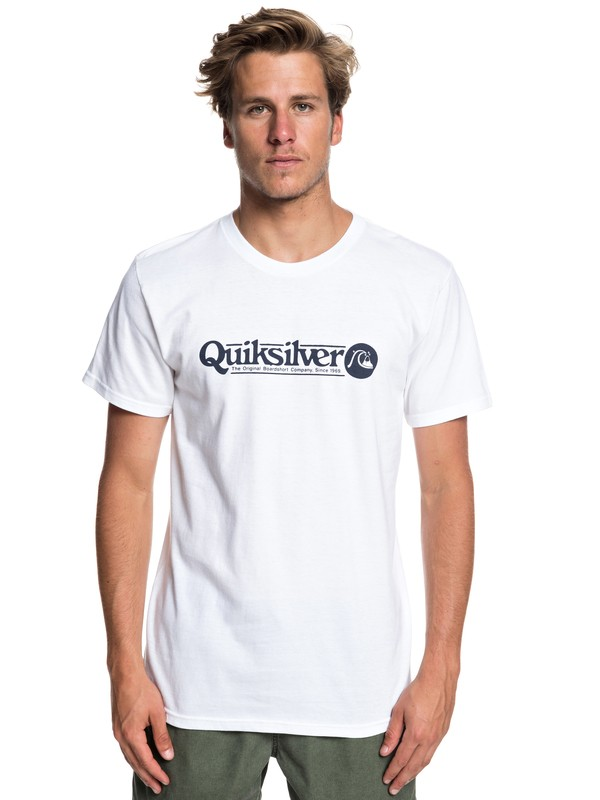 0 Art Tickle Tee White AQYZT05911 Quiksilver