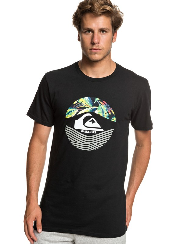 0 Stomped On Tee Black AQYZT05916 Quiksilver