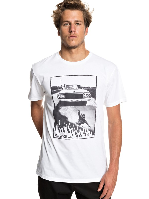0 Against All Odd Balls Tee White AQYZT05928 Quiksilver