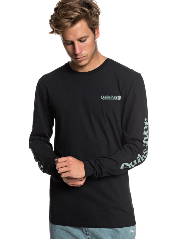 0 Check It Long Sleeve Tee Black AQYZT05941 Quiksilver