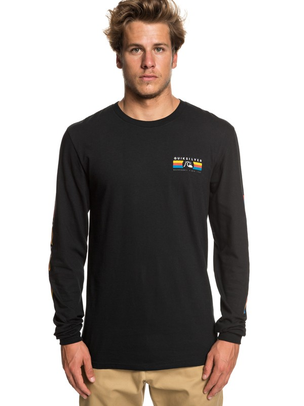 0 Step Up Step Down Long Sleeve Tee Black AQYZT05942 Quiksilver