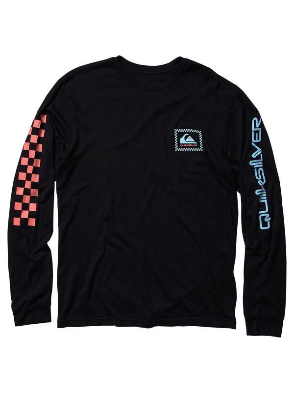 0 Checkas Mate - Long Sleeve T-Shirt Black AQYZT05987 Quiksilver