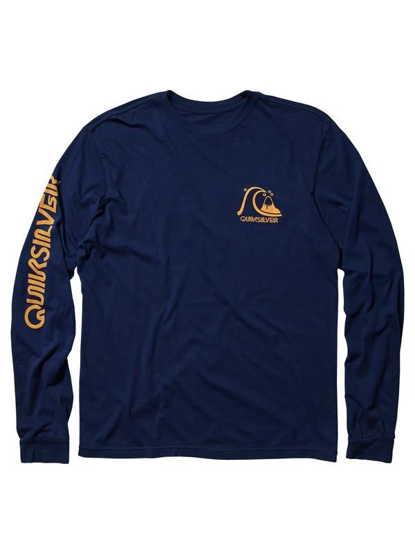 0 Dont Label Me - Long Sleeve T-Shirt Blue AQYZT05988 Quiksilver