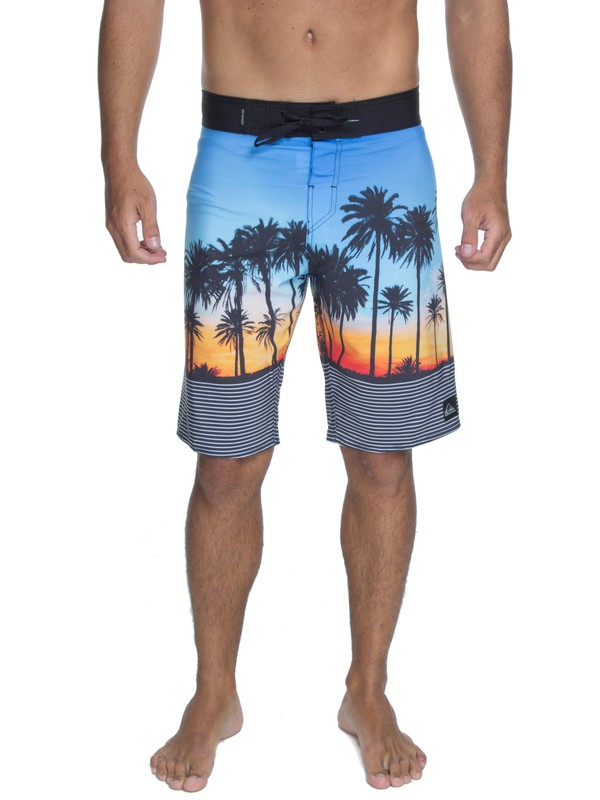 "0 Bermuda Boardshort Sunset Vibes 22"" Quiksilver Preto BR60012534 Quiksilver"