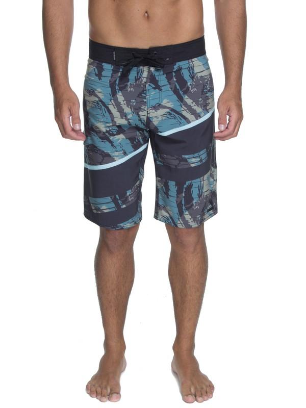 "0 Bermuda Boardshort Slash Pack 21"" Quiksilver Verde BR60012538 Quiksilver"