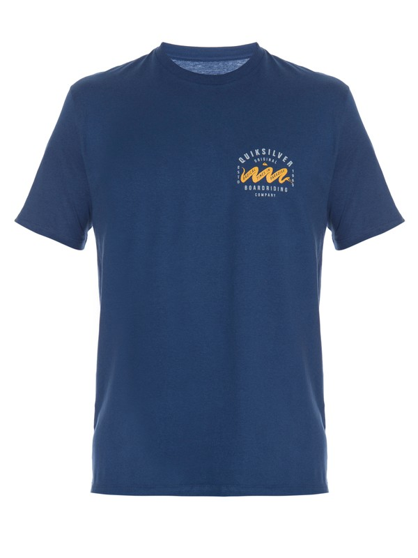 0 Camiseta Masculina Manga Curta Estampa Frente e Costas Quiksilver  BR61114293 Quiksilver