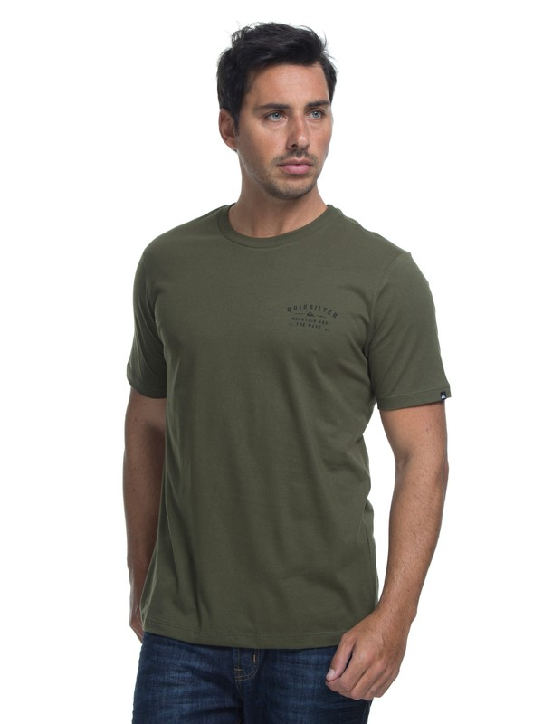 0 Camiseta Manga Curta Regular Fit Spacer Facer Quiksilver Verde BR61114408 Quiksilver