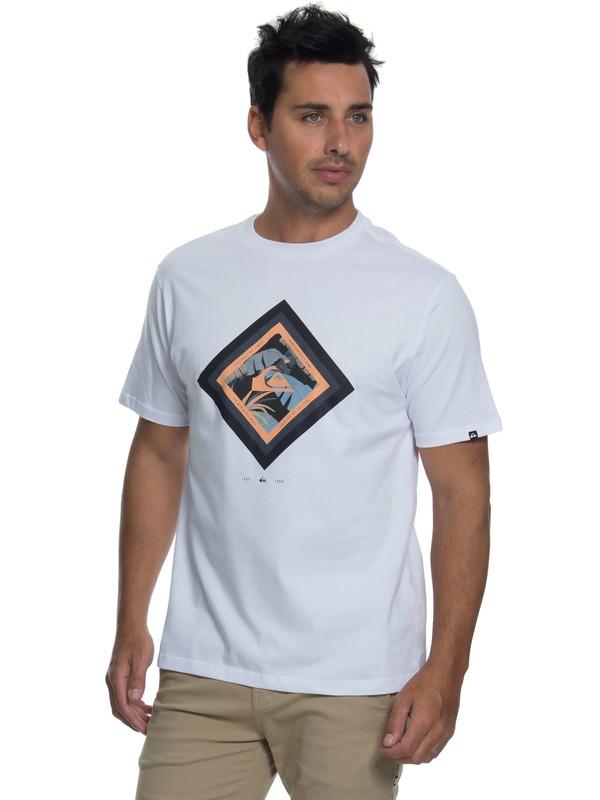 0 Camiseta Manga Curta Regular Fit Crimson Skyline Quiksilver Branco BR61114421 Quiksilver