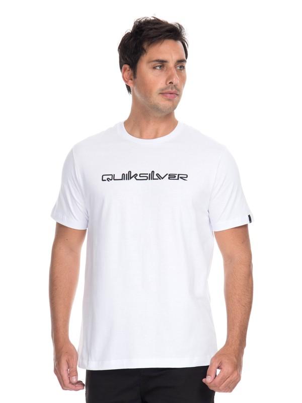 0 Camiseta Originals Shape Shifter Quiksilver Branco BR61114692 Quiksilver