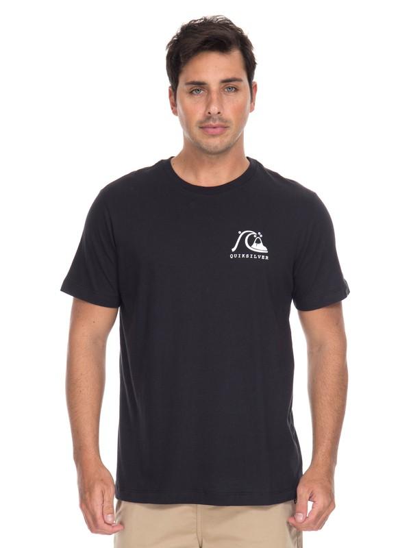 0 Camiseta Originals Pocket Quiksilver Preto BR61114693 Quiksilver
