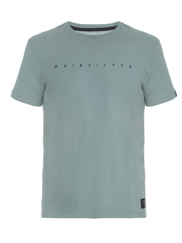 0 Camiseta Masculina Manga Curta Slim Fit Estampa Frontal Quiksilver  BR61142734 Quiksilver