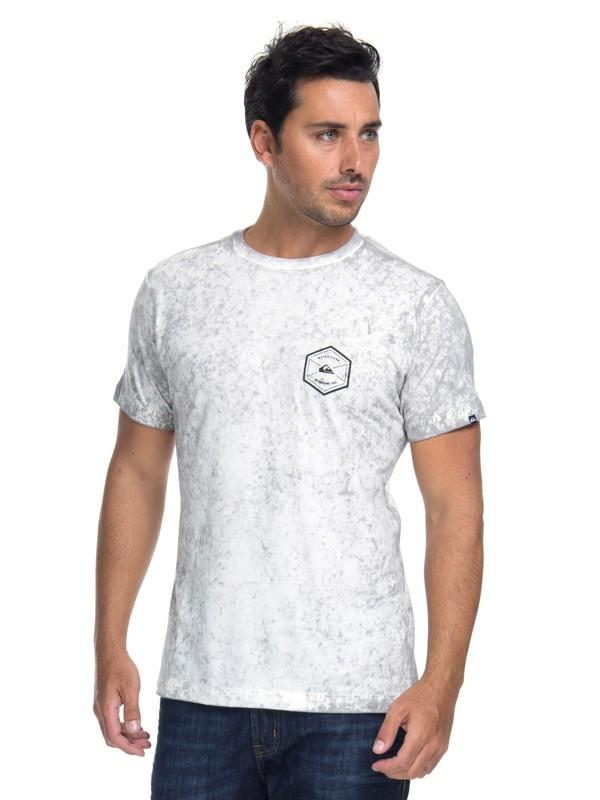 0 Camiseta Manga Curta Slim Fit Oct Dye Comp Quiksilver Branco BR61142865 Quiksilver
