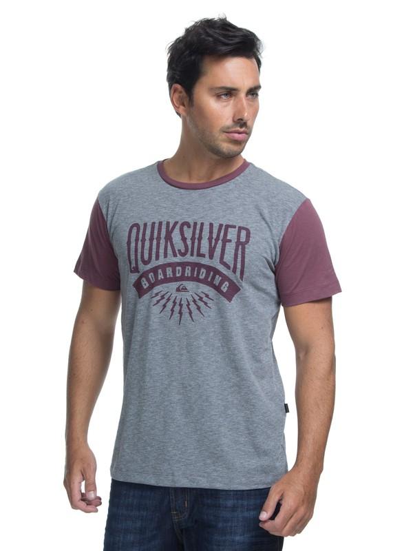 0 Camiseta Manga Curta Slim Fit Sunset Co Quiksilver Vermelho BR61142875 Quiksilver