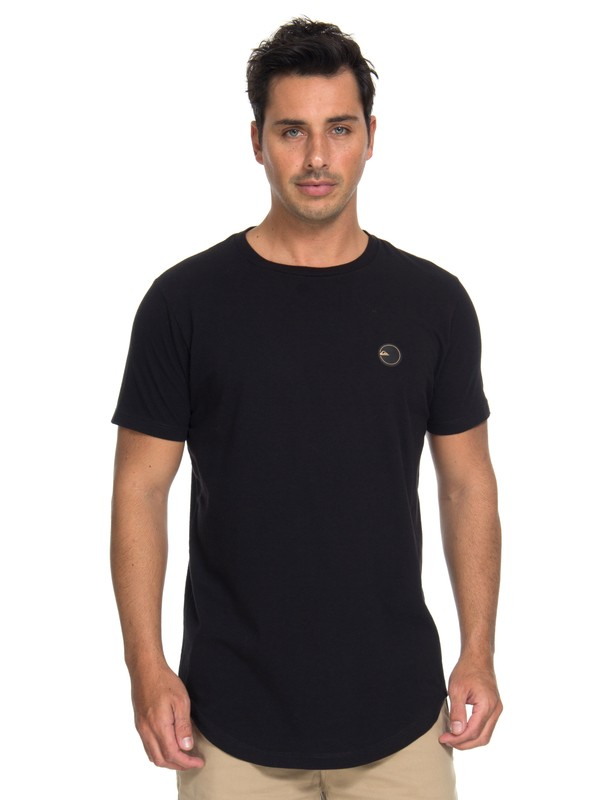 0 Camiseta Scallop Patch Quiksilver Preto BR61143019 Quiksilver