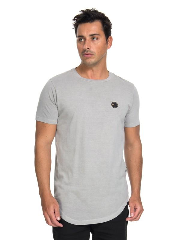 0 Camiseta Scallop Patch Quiksilver Cinza BR61143019 Quiksilver