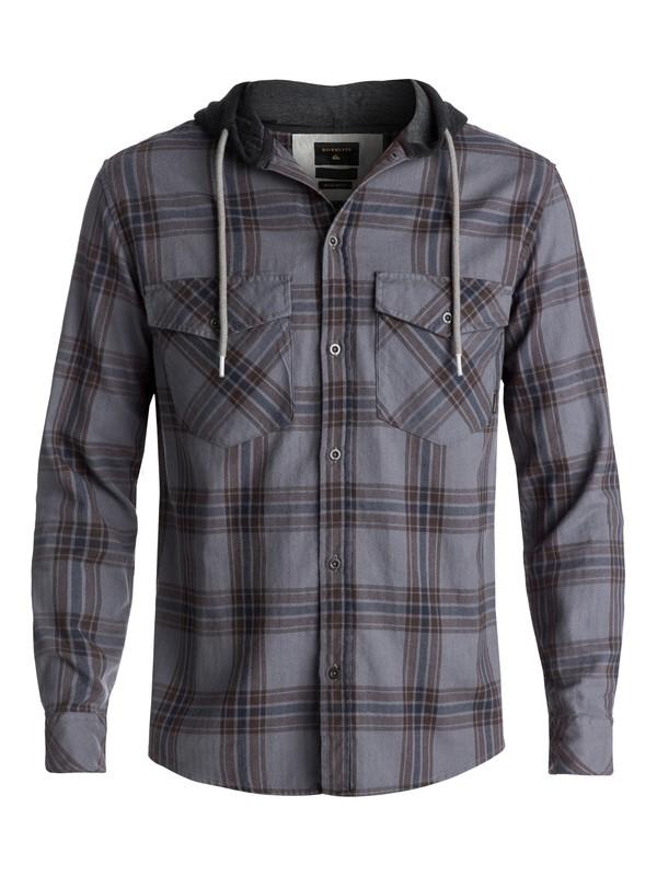 0 Camisa Manga Longa c/Capuz Regular Fit The Magston Quiksilver Marrom BR62291167 Quiksilver