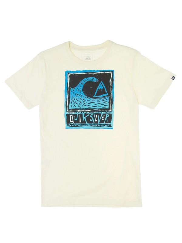 0 Camiseta Juvenil Estampa Frontal Quiksilver Amarelo BR68112027 Quiksilver