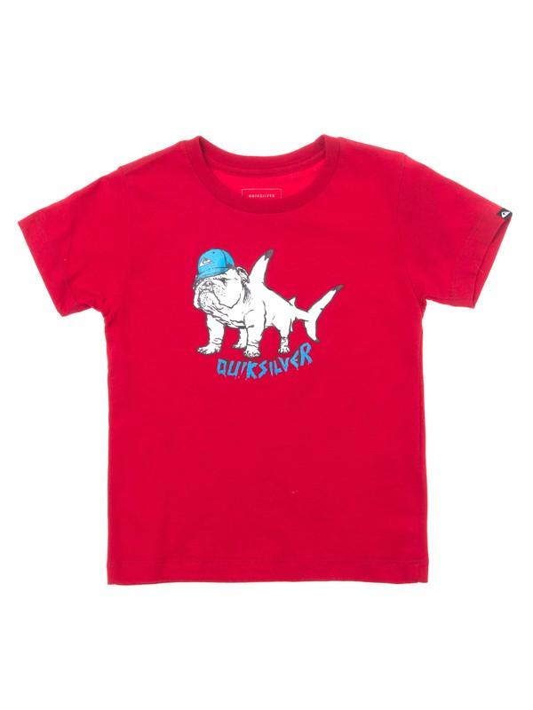 0 Camiseta Juvenil Manga Curta Estampa Frontal Quiksilver Vermelho BR68112054 Quiksilver
