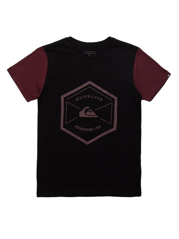 0 Camiseta Manga Curta Juvenil Octo Quiksilver Preto BR68112084 Quiksilver