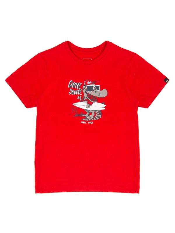 0 Camiseta Manga Curta Infantil Beach Park Quiksilver Vermelho BR68112094 Quiksilver