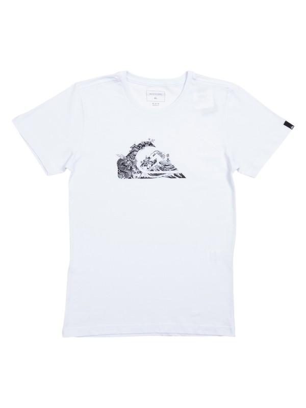0 Camiseta Juvenil Japan Logo Quiksilver Branco BR68112117 Quiksilver