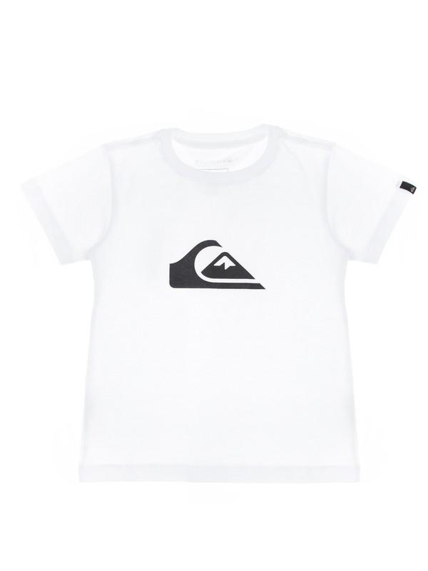 0 Camiseta Infantil Básica Quiksilver Branco BR68112139 Quiksilver