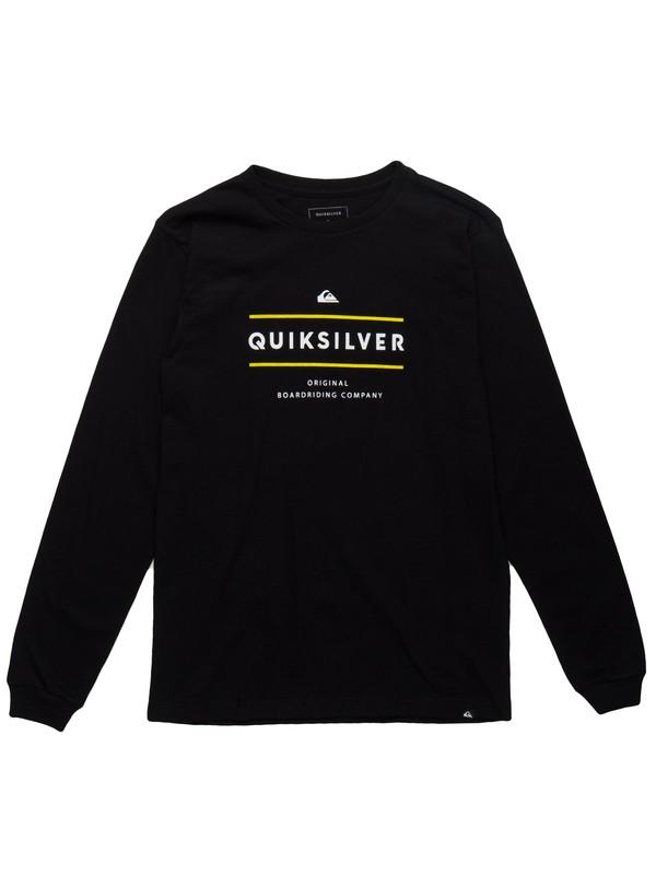 0 Camiseta Manga Longa Juvenil Reverso Surfo Quiksilver Preto BR68171090 Quiksilver