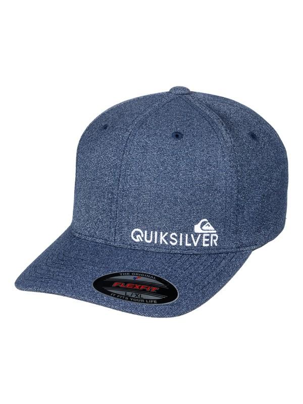 0 Boné 6 Panel Flexfit Sidestay Quiksilver Azul BR78802748 Quiksilver