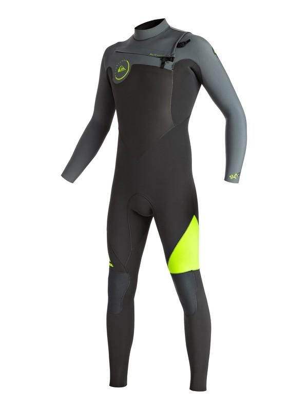 0 Wetsuit Long John 3/2mm Syncro Series Vedado c/ Zíper Frontal Quiksilver Amarelo BR79020111 Quiksilver