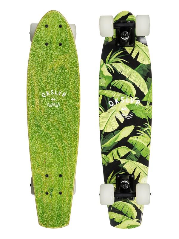 """0 Skate Jungle - 26"""" Mini Cruiser Skateboard - Complete  EGL0JUNGLE Quiksilver"""