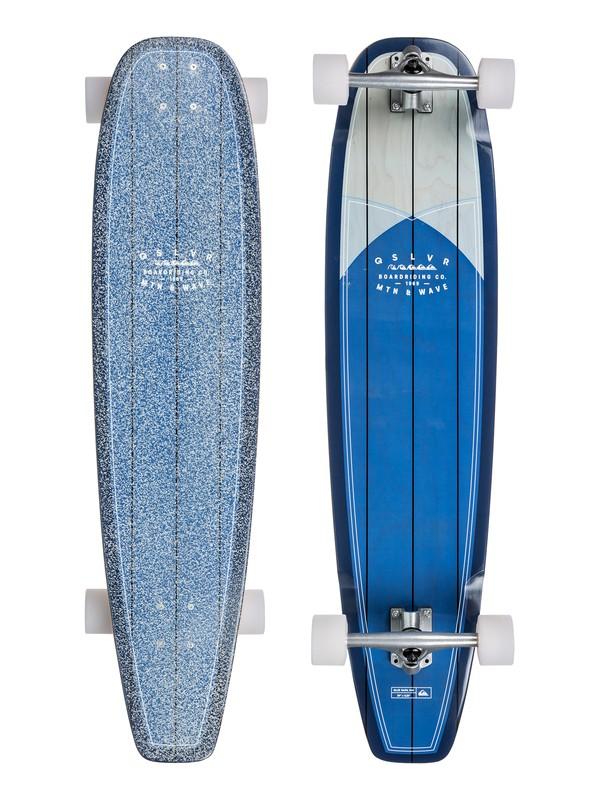 "0 Blue Rapa Nui US - 39"" Soul Surfing Longboard Complete Blue EGLLSRPNUS Quiksilver"