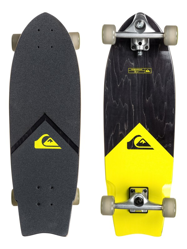 "0 The New Wave St - 9"" Surf Skateboard - Complete  EGLQSLSNWS Quiksilver"