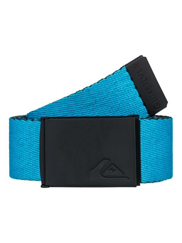 0 Boy's 8-16 The Jam Reversible Webbing Belt Blue EQBAA03044 Quiksilver