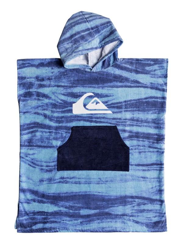 0 Boy's 8-16 Hoody Surf Poncho Blue EQBAA03060 Quiksilver