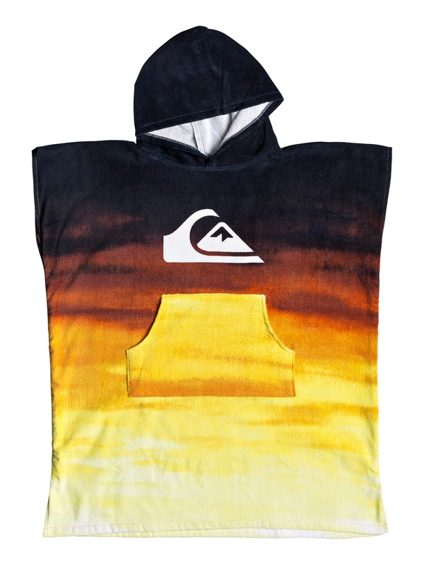0 Boy's 8-16 Hoody Surf Poncho Orange EQBAA03060 Quiksilver