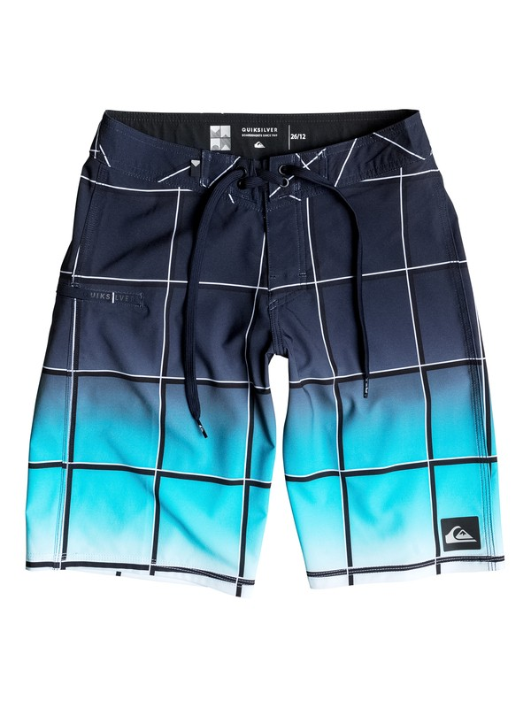 "0 Boy's 8-16 Everyday Electric Vee 19"" Boardshorts  EQBBS03096 Quiksilver"